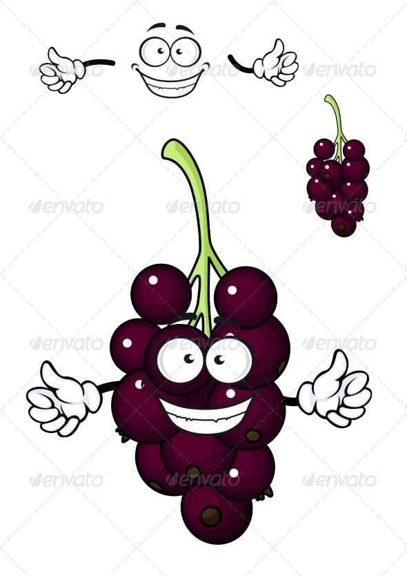GraphicRiver Cartoon Bunch of Currant Berries 7549642