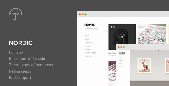 Nordic - Retina Responsive WordPress Theme - Portfolio Creative