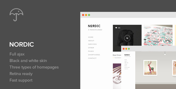 Nordic - Retina Responsive WordPress Theme