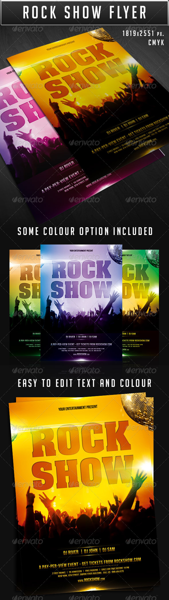 GraphicRiver Rock show party flyer 7549663