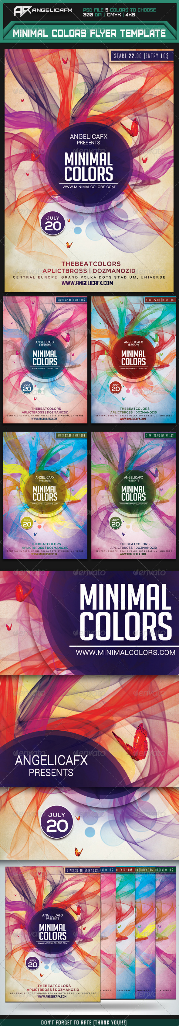 GraphicRiver Minimal Sounds Flyer Template 7549675
