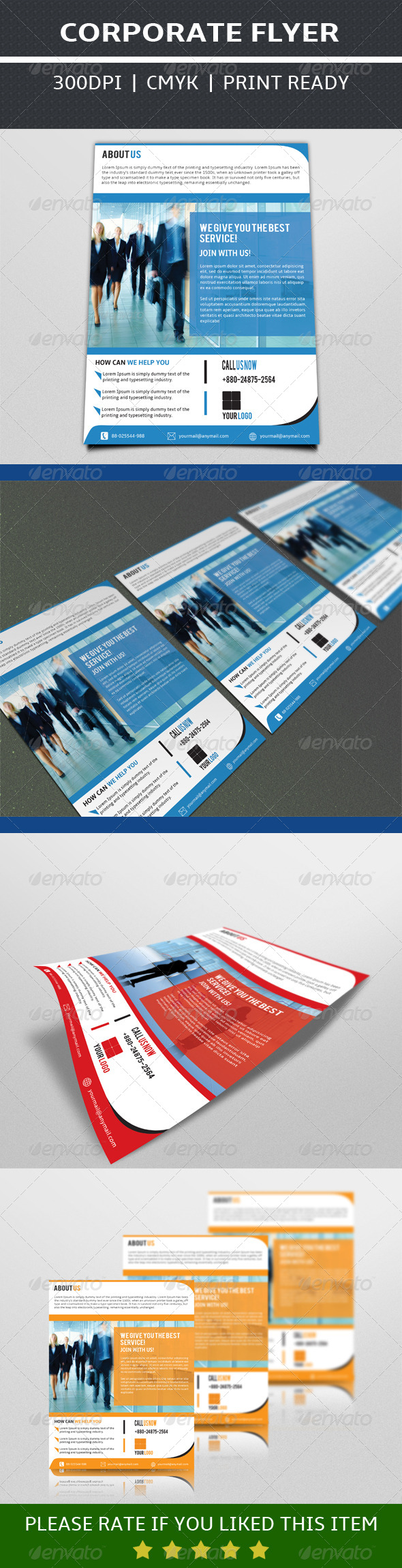 GraphicRiver Business Flyer Template 7549676