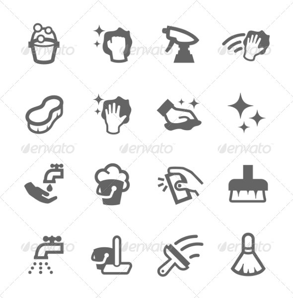 GraphicRiver Cleaning Icons 7549678