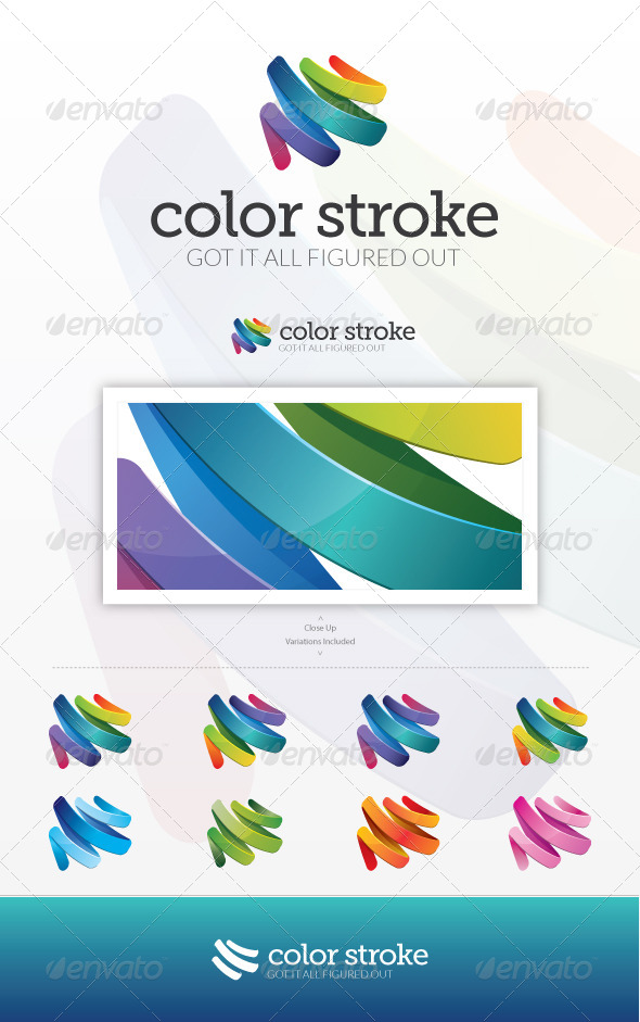 Color Stroke Logo - Abstract Logo Templates
