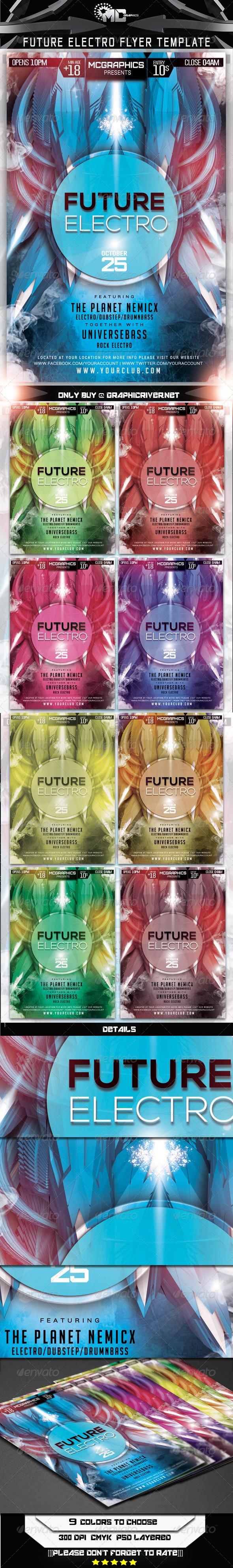 GraphicRiver Future Electro Flyer Template 7549693