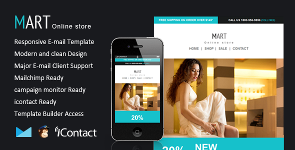 Mart - Responsive Email + Themebuilder Access - Email Templates Marketing
