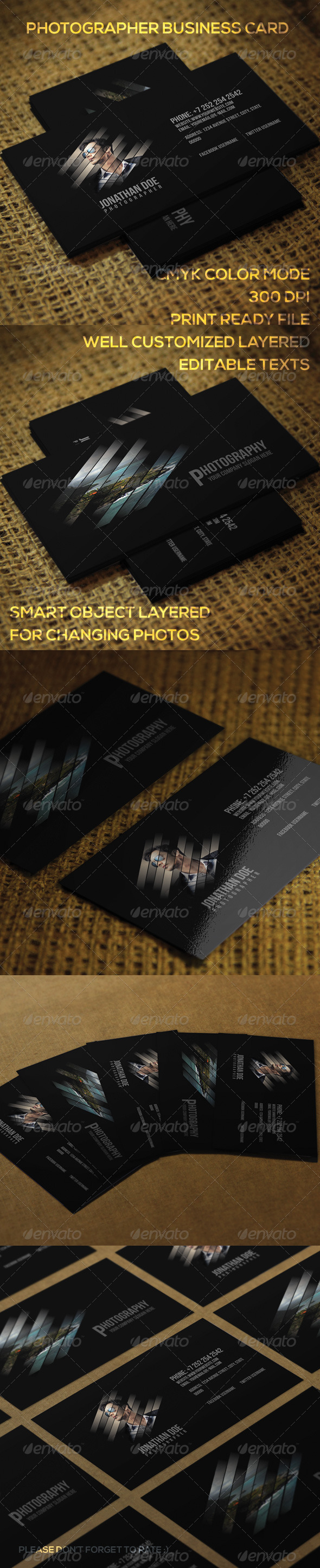 GraphicRiver Photographer Business Card 7536688