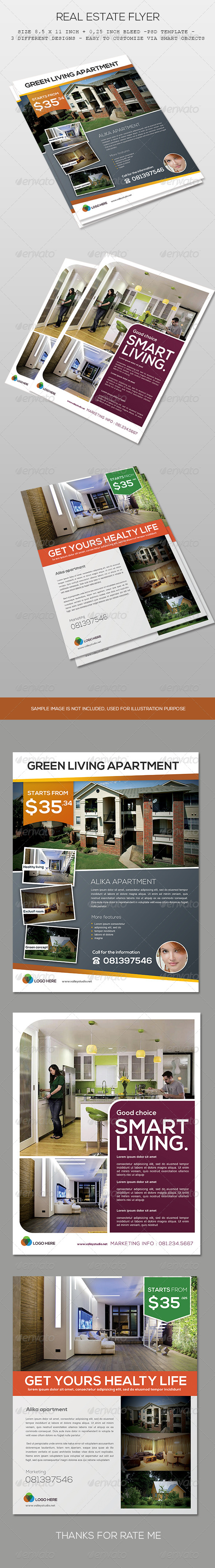 GraphicRiver Real Estate Flyer 7535400