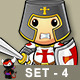 St George Cartoon Knight Character - Set 4 - GraphicRiver Item for Sale