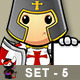 St George Knight Character - Set 5 - GraphicRiver Item for Sale