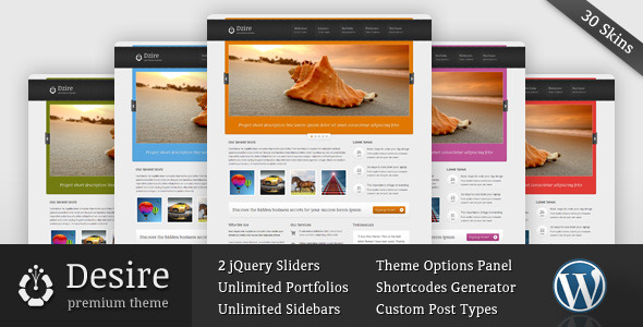 Desire - Blog and Portfolio Wordpress Theme