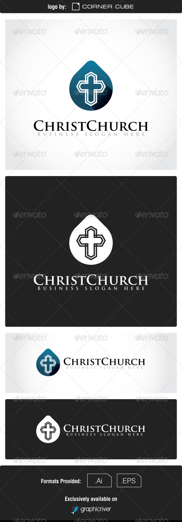 GraphicRiver Christ Church Logo 7550329