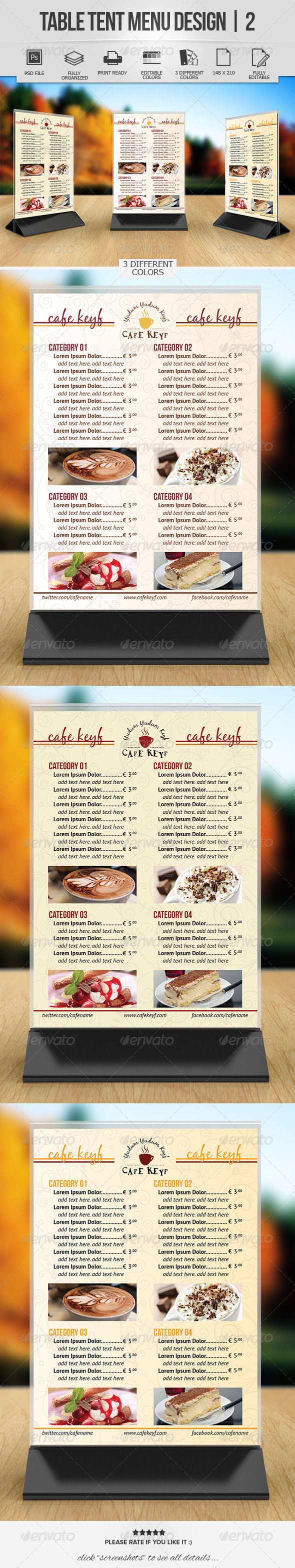 GraphicRiver Table Tent Menu Design 2 7550341