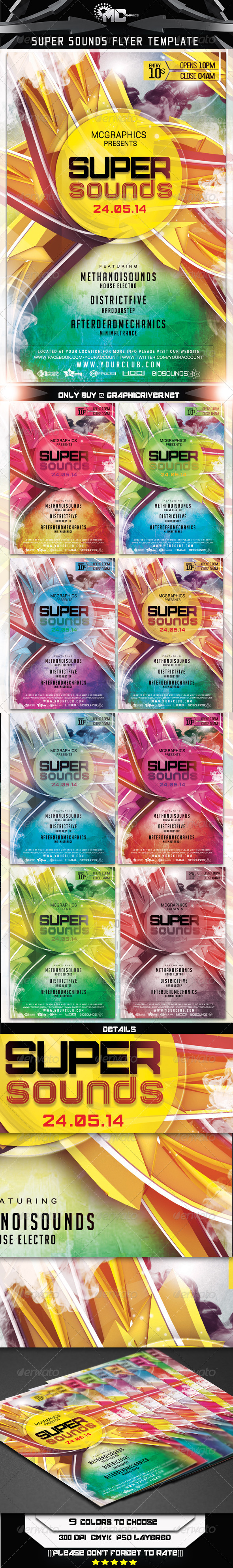 GraphicRiver Super Sounds Flyer Template 7550356