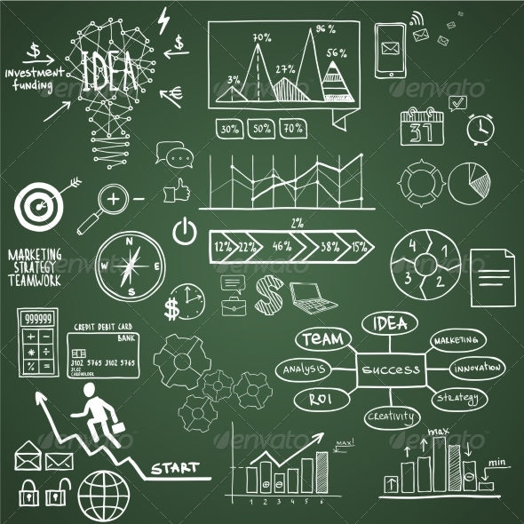 GraphicRiver Business and Finance Element Icons 7550483
