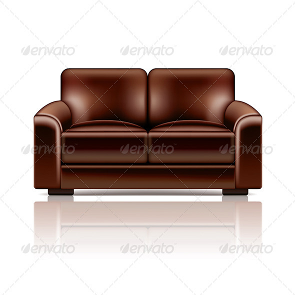 GraphicRiver Brown Leather Sofa 7550494