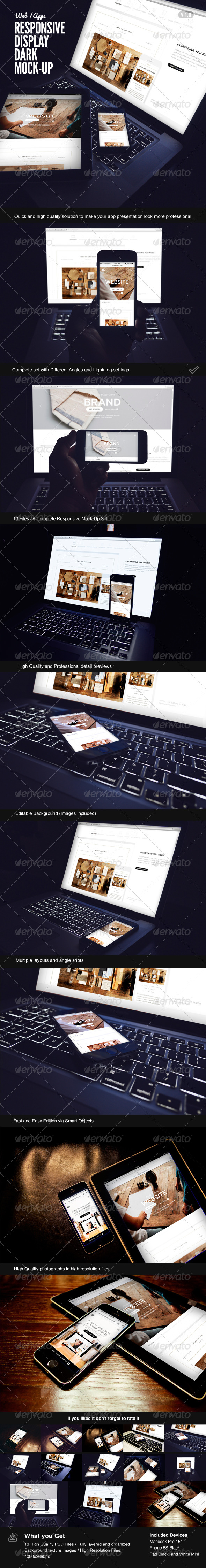 GraphicRiver Responsive Display Dark Mock-Up 7550502