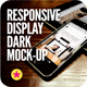 Responsive Display Dark Mock-Up - GraphicRiver Item for Sale