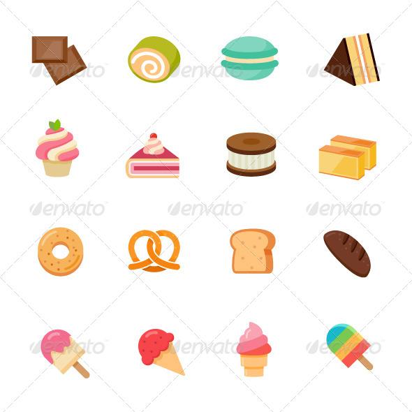 Dessert Icon Flat Design