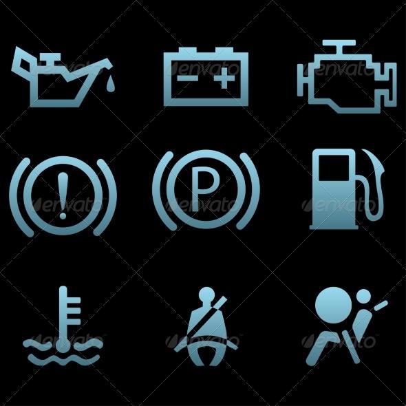 GraphicRiver Car Interface Symbols 7550563