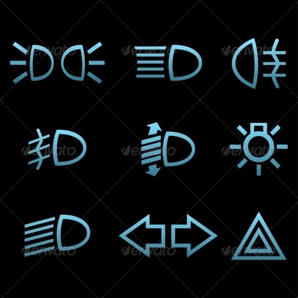 GraphicRiver Car interface Symbols 7550580