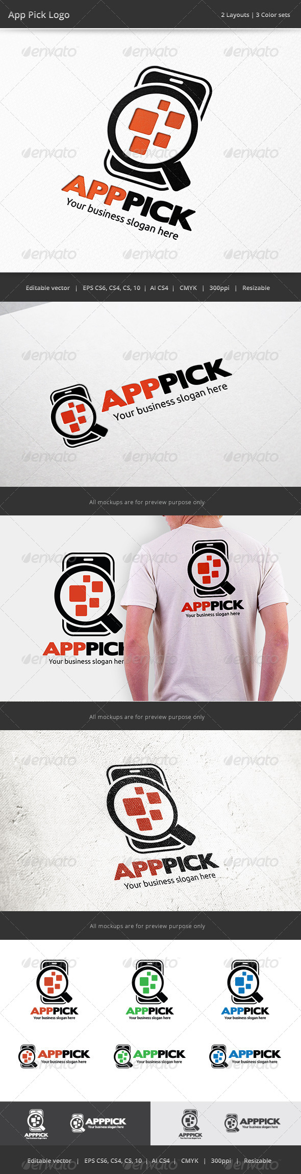 GraphicRiver Mobile App Pick Logo 7550669