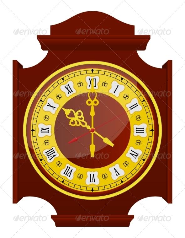 GraphicRiver Golden Clock 7550913