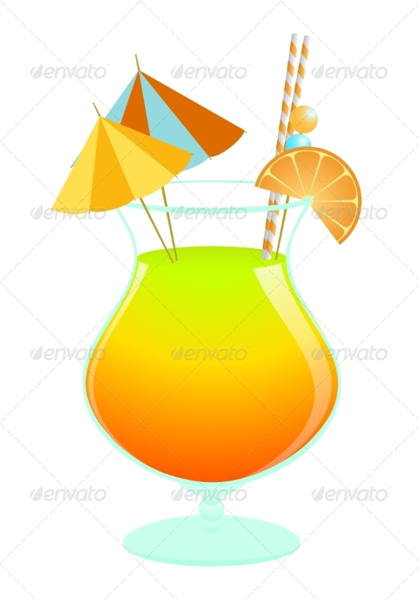 GraphicRiver Summer Tropical Cocktail 7550927