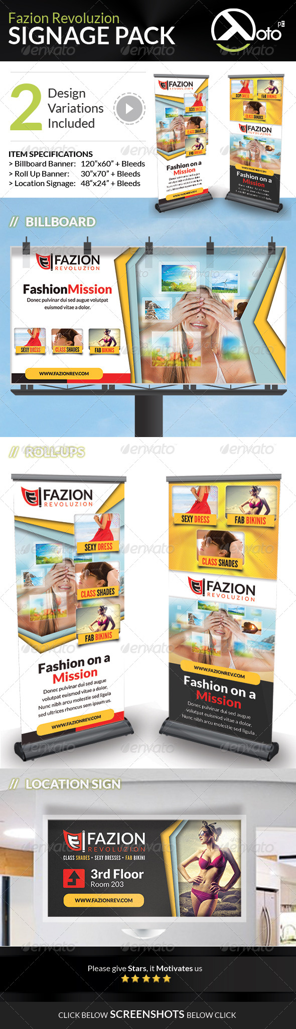GraphicRiver Fashion Revolution Sale Signage Pack 7550932