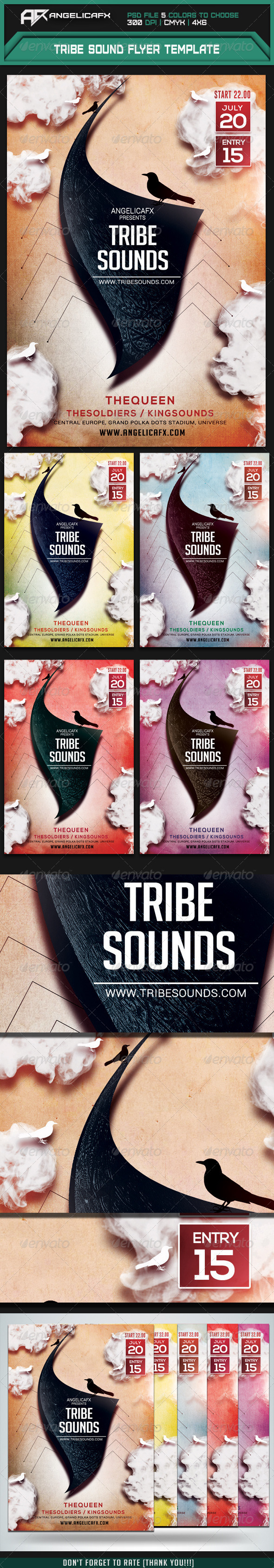 GraphicRiver Tribe Sounds Flyer Template 7550964