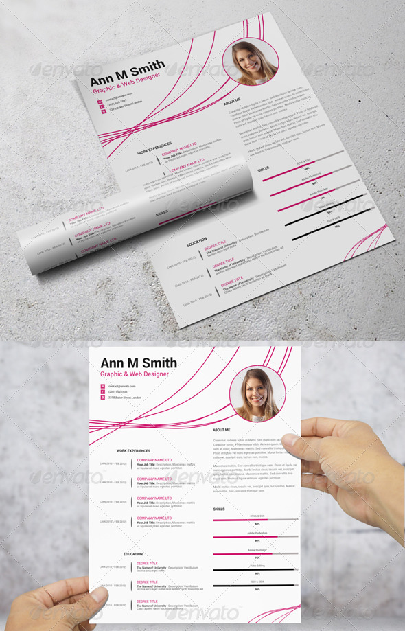 GraphicRiver Simple Resume CV 7550976