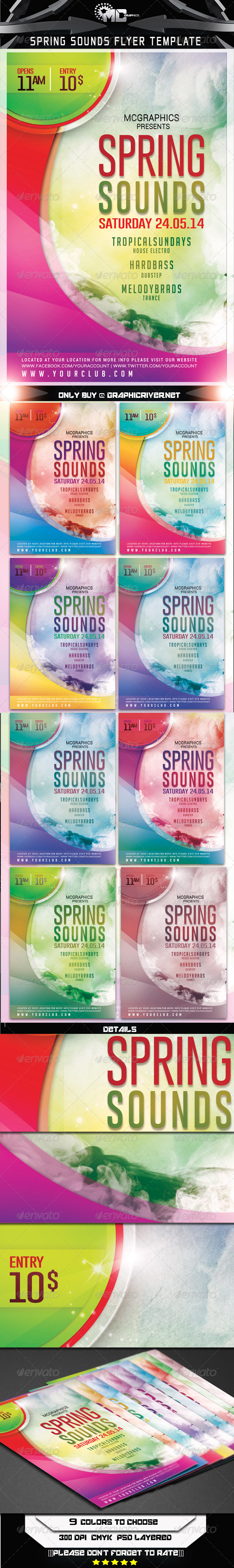 GraphicRiver Spring Sounds Flyer Template 7550982