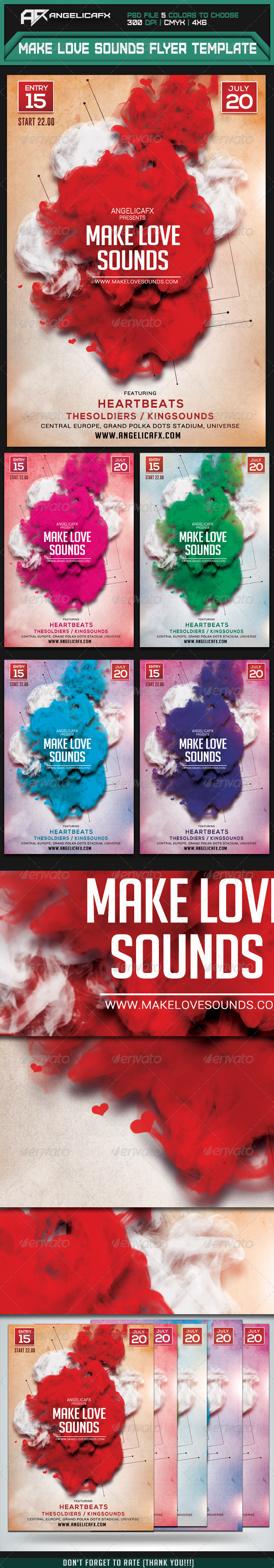 GraphicRiver Make Love Sounds Flyer Template 7551050