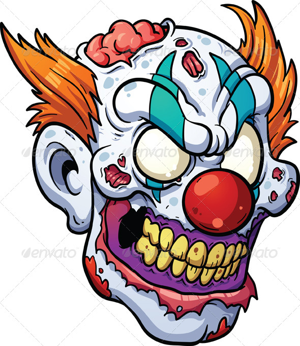 GraphicRiver Zombie Clown Head 7551339