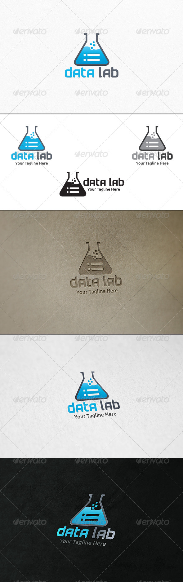 GraphicRiver Data Lab Logo Template 7551566