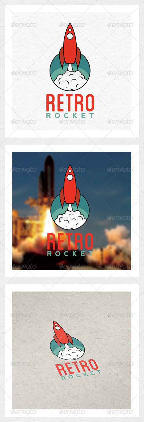 GraphicRiver Retro Rocket 7551797