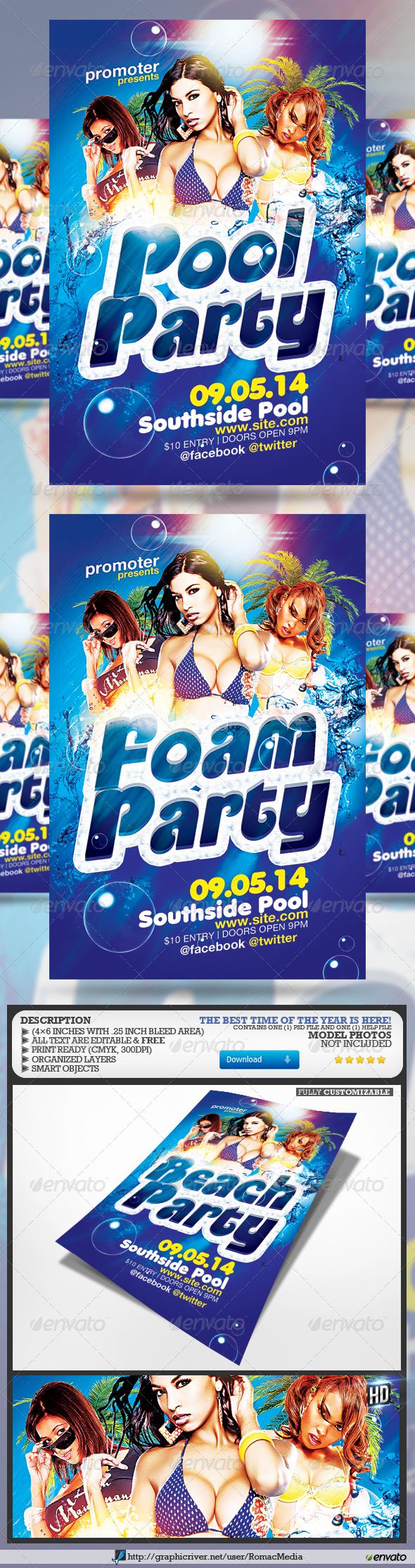 GraphicRiver Pool l Foam l Beach Party 7551916