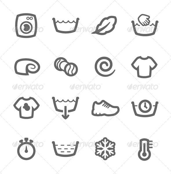 GraphicRiver Washing Machine Icons 7552610