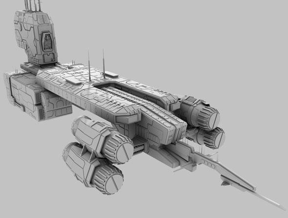 3DOcean Terran Spaceship 774867