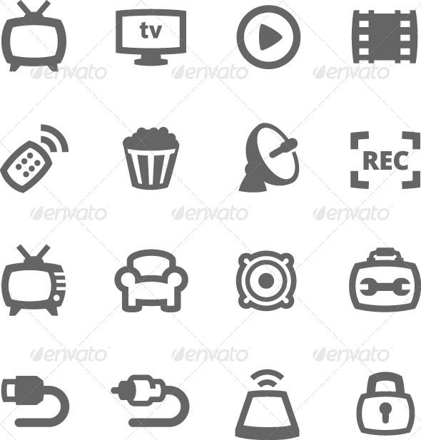 GraphicRiver TV Icons 7552654