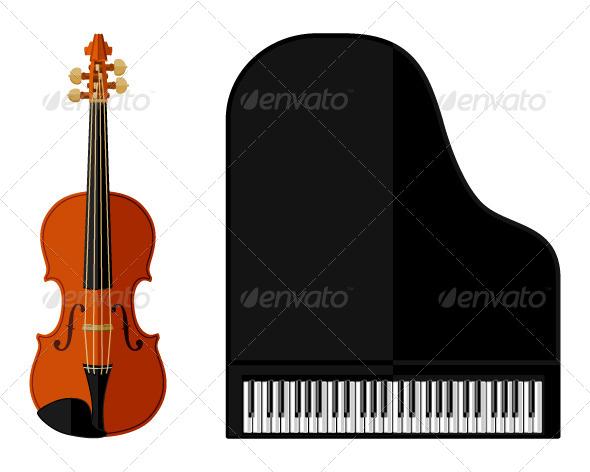 GraphicRiver Violin and Grand Piano 7552775