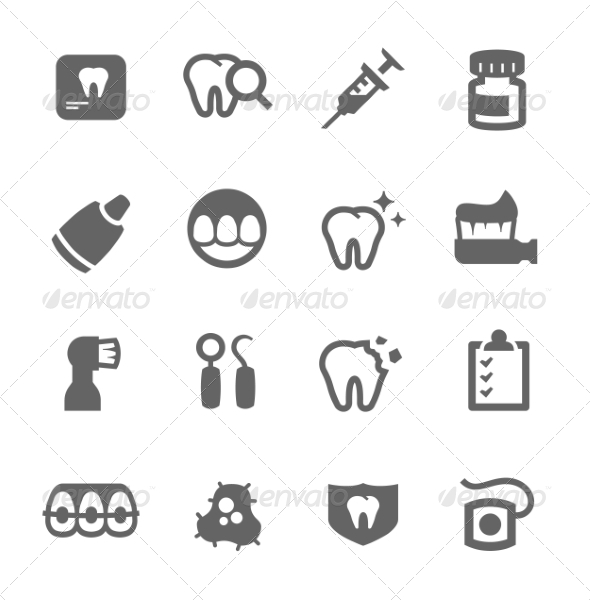 GraphicRiver Dental Icons 7552828