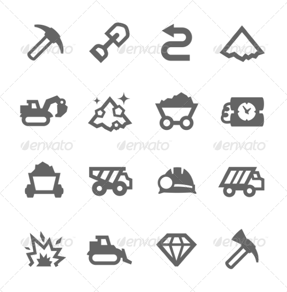 GraphicRiver Mining Icons 7552873