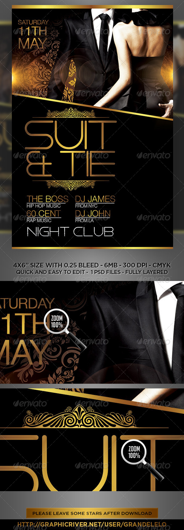 GraphicRiver Suit and Tie Flyer Template 7553134