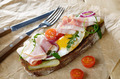 Bacon and fried egg open sandwich - PhotoDune Item for Sale