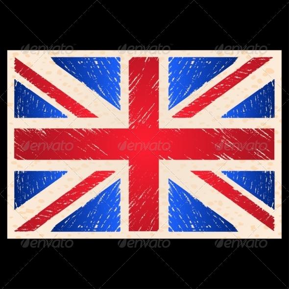 Grunge England Flag