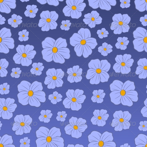 GraphicRiver Seamless Flowers Pattern 7554029
