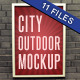 City Outdoor Poster Mockup Pack - 11 files