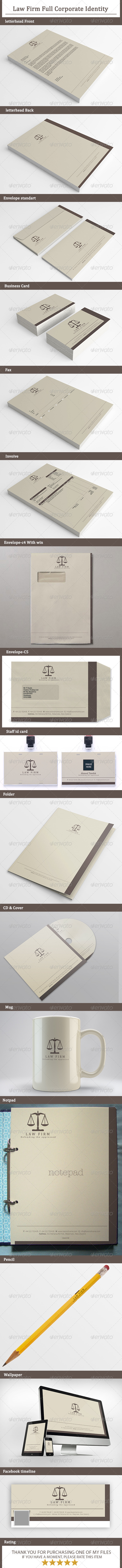 GraphicRiver Law Firm Full Corporate Identity 7554794