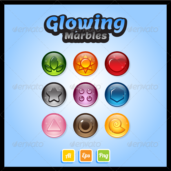 GraphicRiver Game Asset Glossy Marbles 7554805